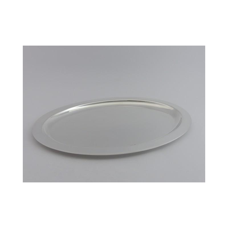 Silbertablett oval 39x29cm