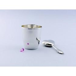 Silber Taufbecher 8cm _1