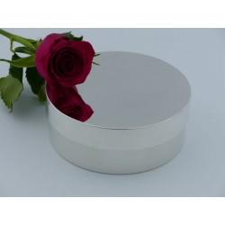 Elegante Silberdose 13cm ausgelegt