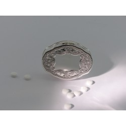Ovale Silber Pillendose _1