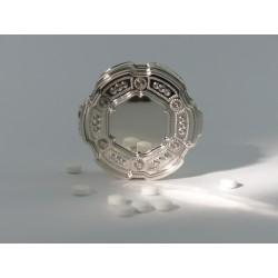 Silber Pillendose rund _1