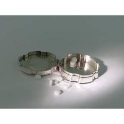 Silber Pillendose rund _3