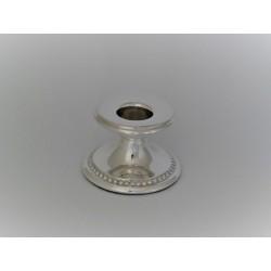 Silberleuchter 4,5cm Perlrand_1