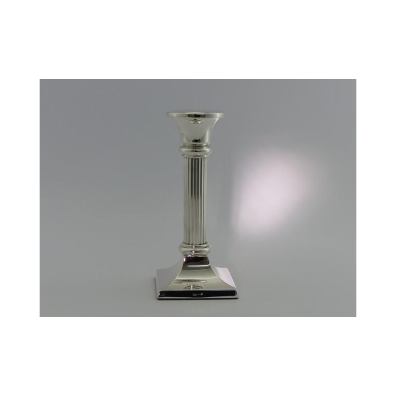 Silberleuchter 14cm Riefen _1