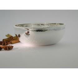Silberschale rund Kordelrand _1