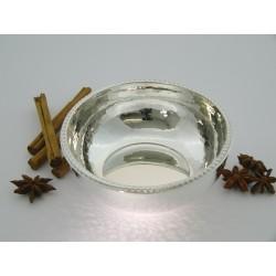 Silberschale rund Kordelrand