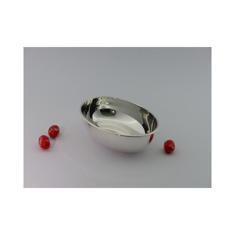 Silberschale oval glatt