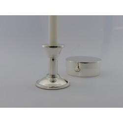 Silberleuchter Bauhaus 9cm _2