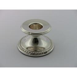 Silberleuchter 4,5cm Kordelrand