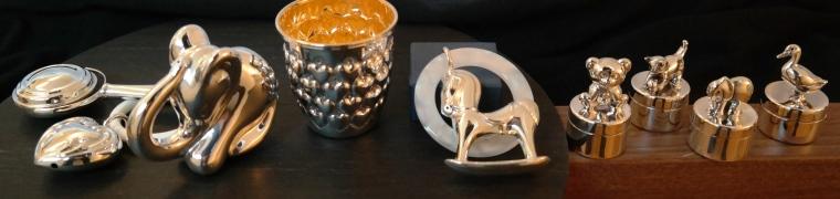 Silberrasseln Silberlöffel Milchzahndosen